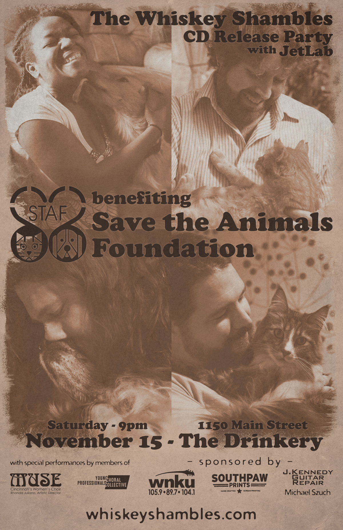 The Whiskey Shambles – 2014-11-15 CD Release / STAF Benefit (poster 2)