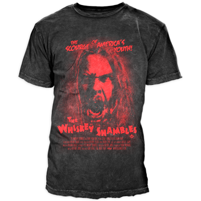 Whiskey Shambles - 2014 Mens Horror T-Shirt (charcoal)