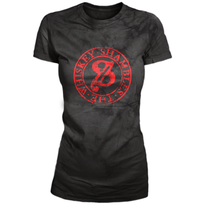 Whiskey Shambles - 2014 Ladies Stamp T-Shirt (charcoal)