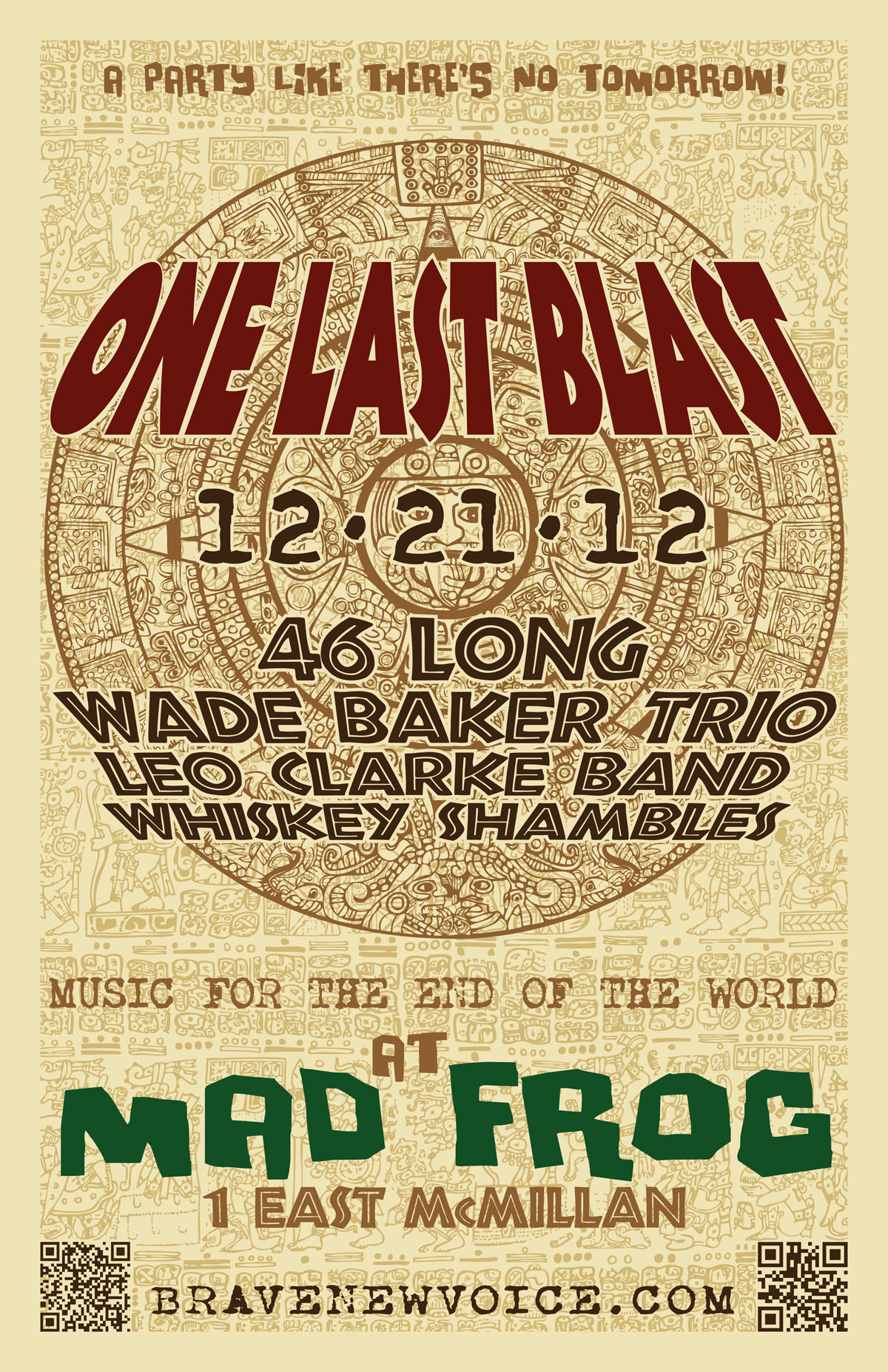 The Whiskey Shambles – 2012-12-21 – ONE LAST BLAST: Live at Mad Frog (poster)