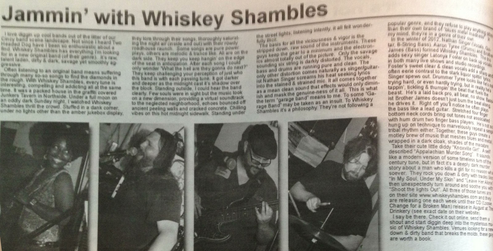 The Whiskey Shambles – 2013-07-01 – CincyVibe article