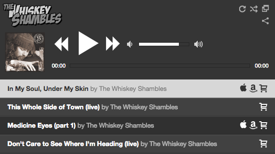 The Whiskey Shambles Music Player